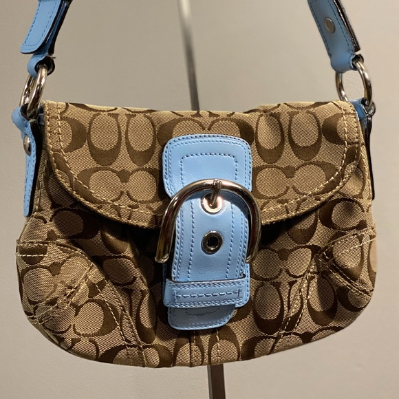 Coach Handbags - Coach Custom Signature Soho Hobo Bag